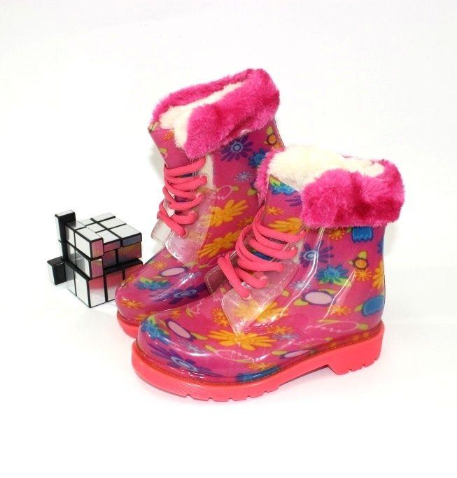Дитячі гумові чоботи для дівчинки за мінімальною ціною з доставкою.