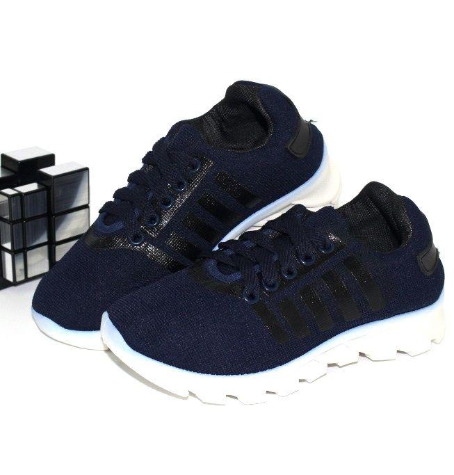 Лёгкие текстильные кроссовки 08-17-02С-т.синие - в интернет магазине детских кроссовок для мальчиков