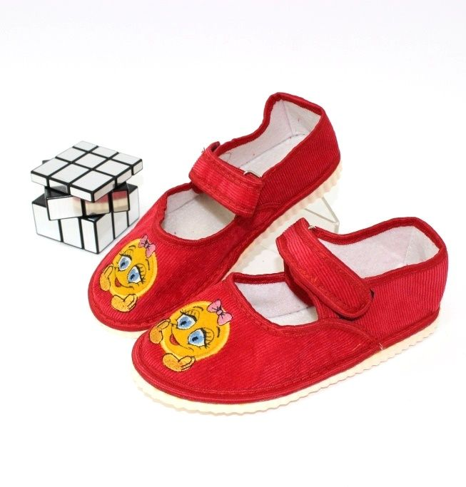 Тапочки дитячі на липучці, купити змінне дитячу взуття Запоріжжя, взуття для садка