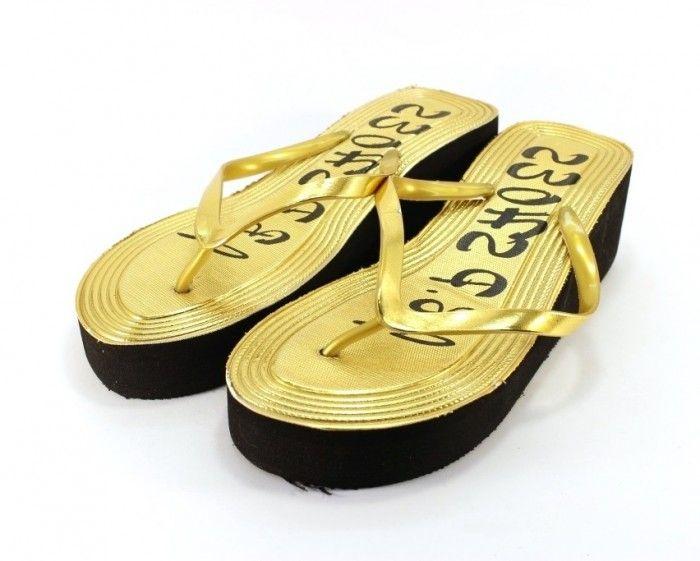 Женские вьетнамки золотистые, купить вьетнамки Днепр, обувь Харьков, пляжная обувь дропшиппинг