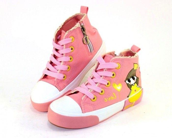 56345bf2aedc Высокие кеды для девочки 1059-2 - купить детские кроссовки для садика