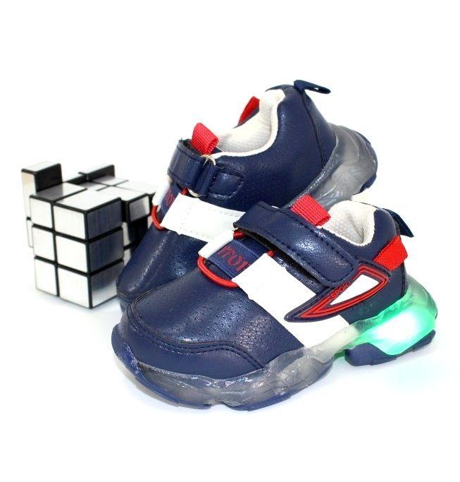 Кроссовки светяшки для мальчиков 1095-7 - в интернет магазине детских кроссовок для мальчиков