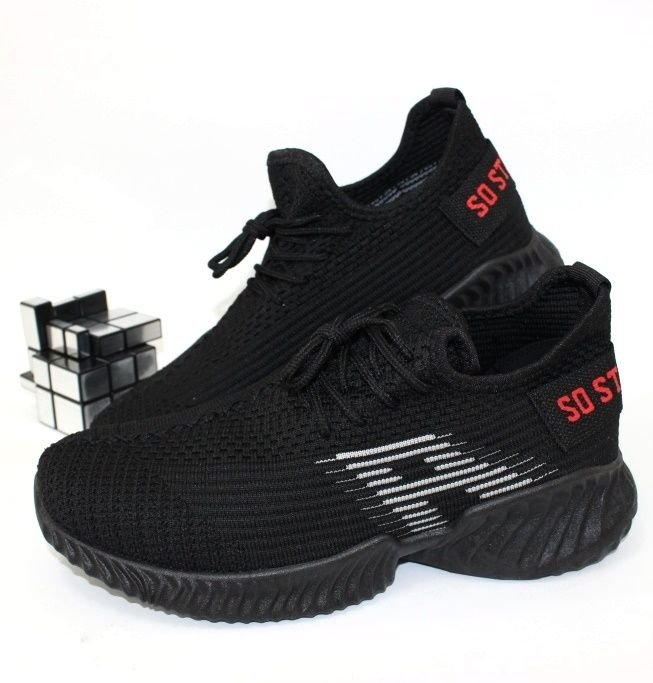 Кроссовки 112-4-black-grey - в интернет магазине детских кроссовок для подростков