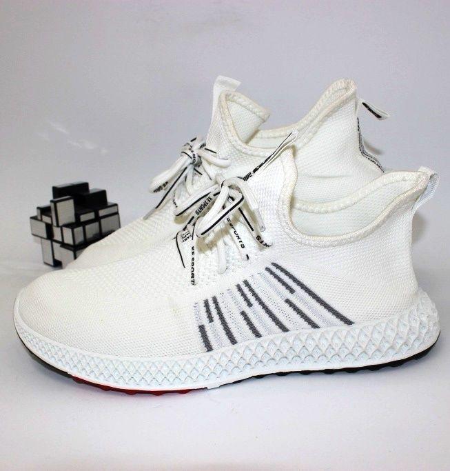 Кроссовки мужские текстильные, летние мужские кроссовки, белые мужские кроссовки