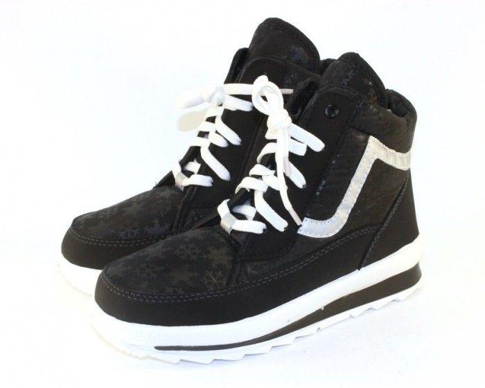 Ботинки зимние недорого 117-черные - купить зимнюю обувь