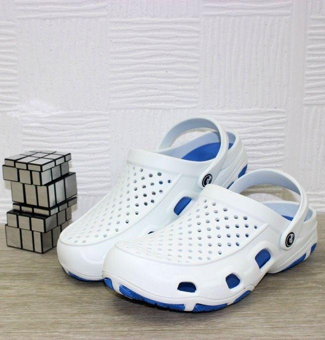 Купить белые кроксы, мужские кроксы недорого, белые сабо мужские