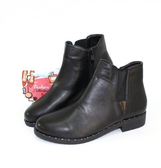 Ботинки весенние и осенние - Черные ботинки на осень 160-24