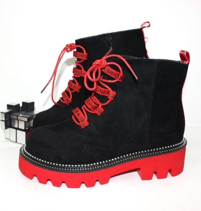 Ботинки весенние и осенние - Ботинки женские 168-37-red