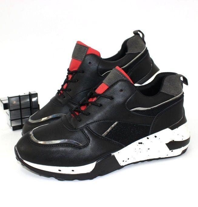 Молодёжные кроссовки 20-635-black-red  - купить в интернет магазине в Запорожье, Днепре, Харькове