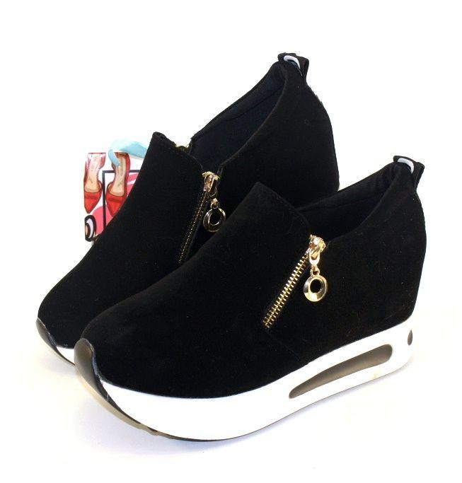 купить замшевые женские кроссовки на танкетке в интернете
