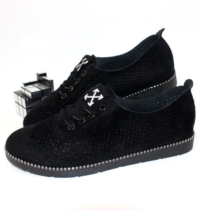 Комфортные женские туфли с перфорацией 243-13 - женская обувь недорого, туфли женские скидки