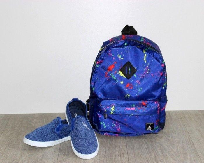 Текстильные слипоны K26-1 - в интернет магазине детских кроссовок для мальчиков