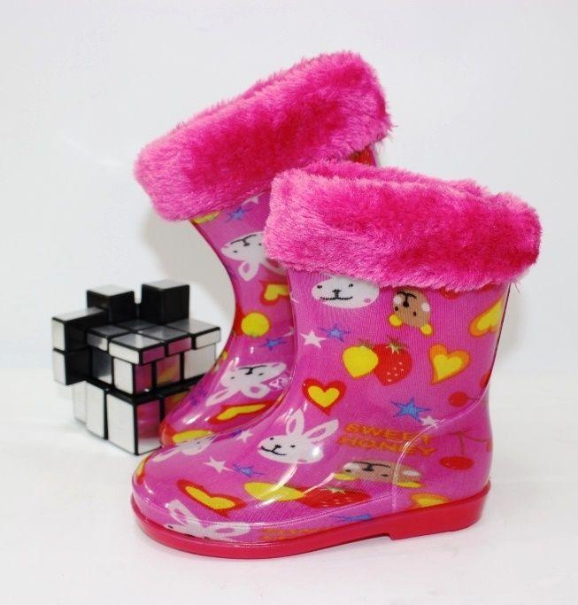 Детские резиновые сапоги - зимняя обувь для слякоти! сапоги резиновые детские для девочек на зиму