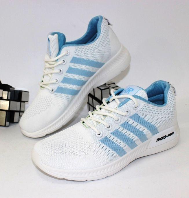 Текстильные кроссовки 33-33-white-blue  - купить в интернет магазине в Запорожье, Днепре, Харькове