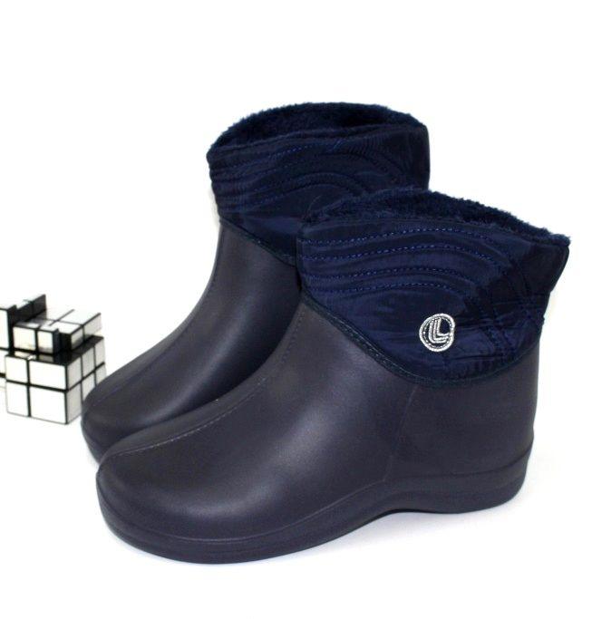 Галоши с утеплителем ЭВА+плащёвка D 330 blue - купить зимнюю обувь