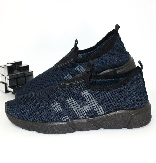 Удобные тектильные кроссовки 3601-синий  - купить в интернет магазине в Украине