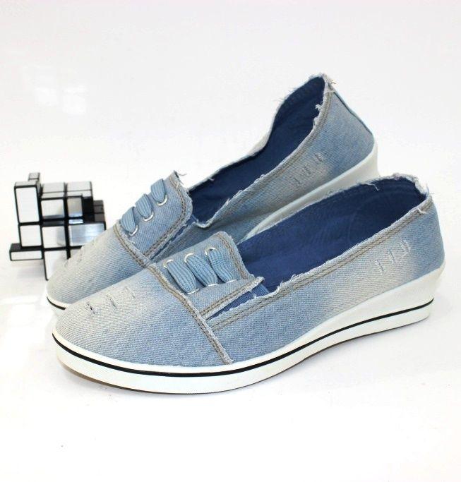 Джинсовые слипоны 3601 - купить кеды в стиле Vans в интернет магазине обуви