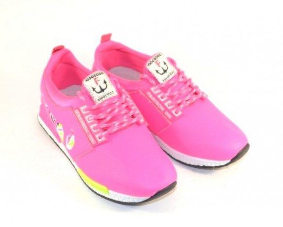 291dfc04f Яркие малиновые кроссовки 378-5 - купить девочкам для школы