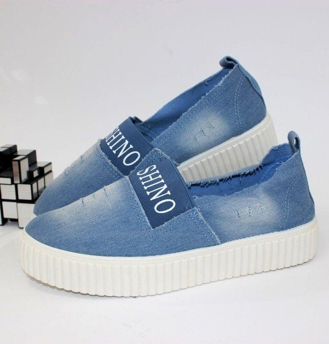 Слипоны 4-212-lt.blue - купить кеды в стиле Vans в интернет магазине обуви