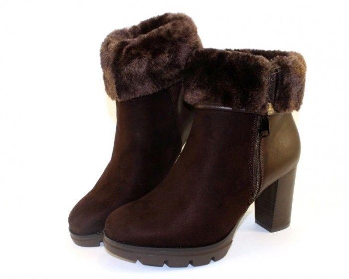 Ботинки с отворотом замшевые 438-GA - купить зимнюю обувь