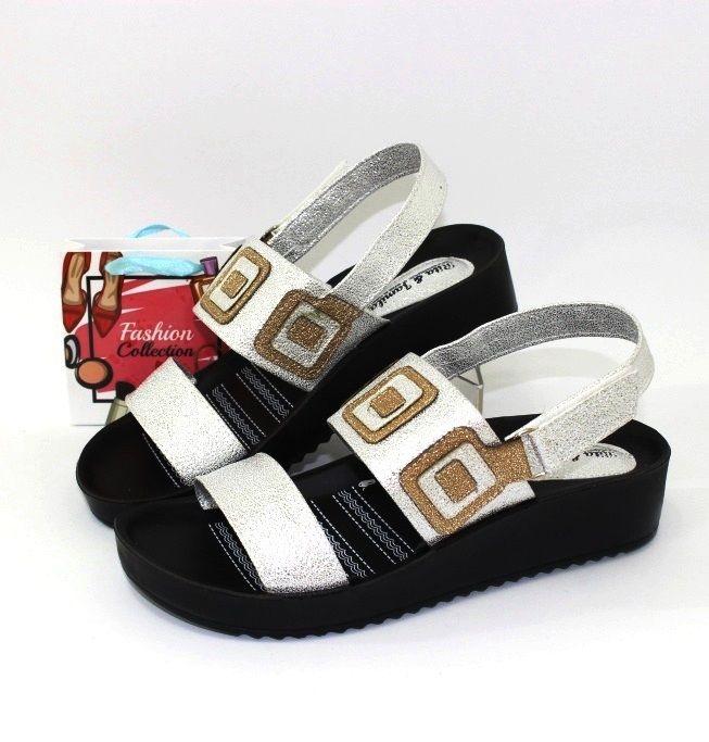 Босоножки женские 441-silver, распродажа летней обуви, летняя обувь, обувь дропшиппинг