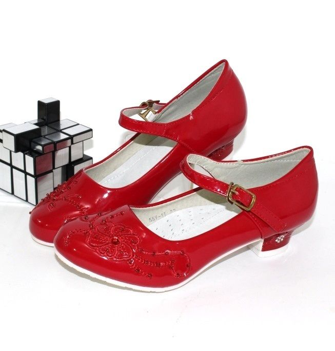 Червоні черевички купити, туфлі для дівчаток купити Запоріжжя