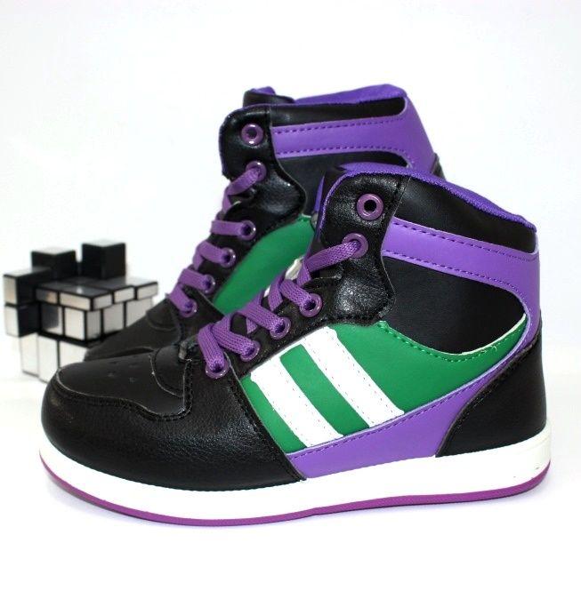 Ботинки для девочек спортивные 571B-4 - ботинки для девочек демисезон, детская обувь интернет магазин, обувь детская скидки, осенняя обувь