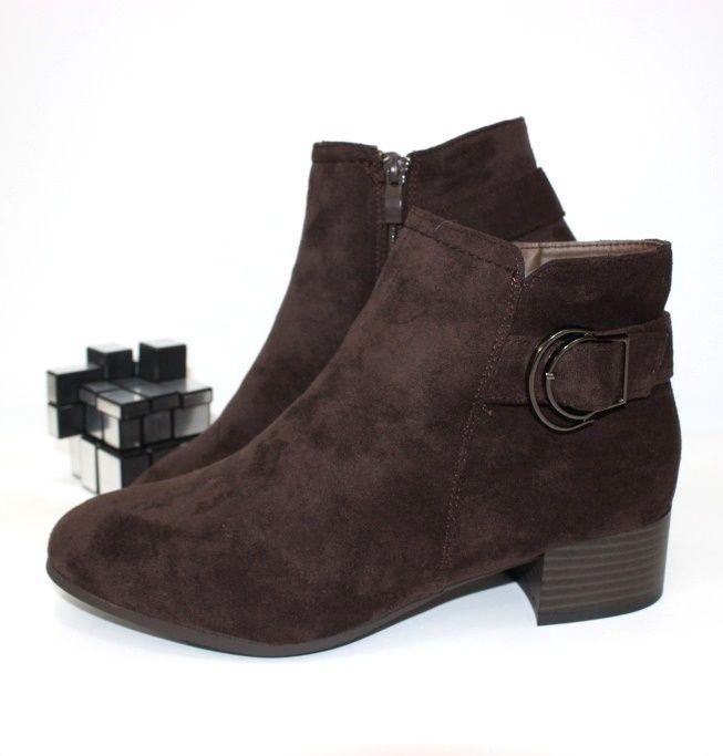 Ботинки весенние и осенние - Ботинки женские средний каблук 5797-2