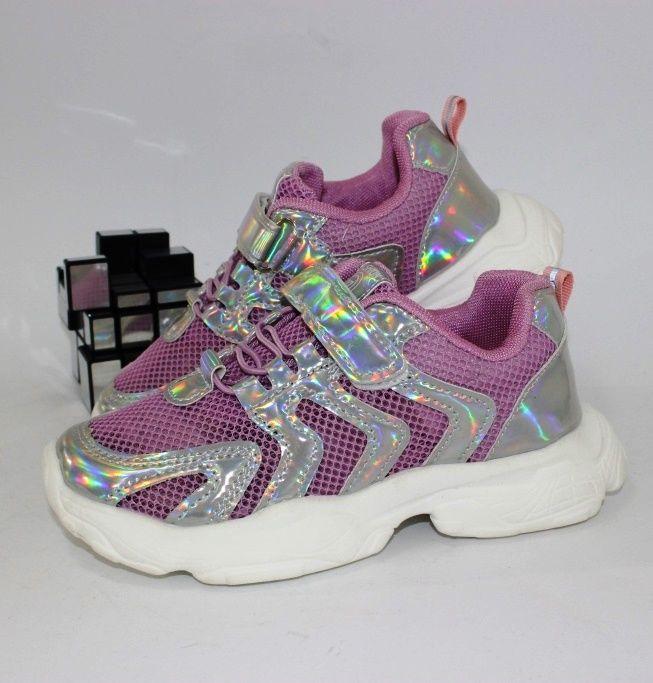 Лёгкие летние кроссовки 602-pink - купить девочкам для школы