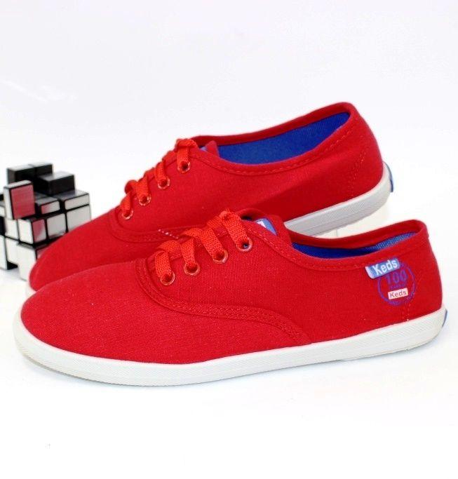 Текстильные кеды 64-11-red - в интернет магазине детских кроссовок для подростков