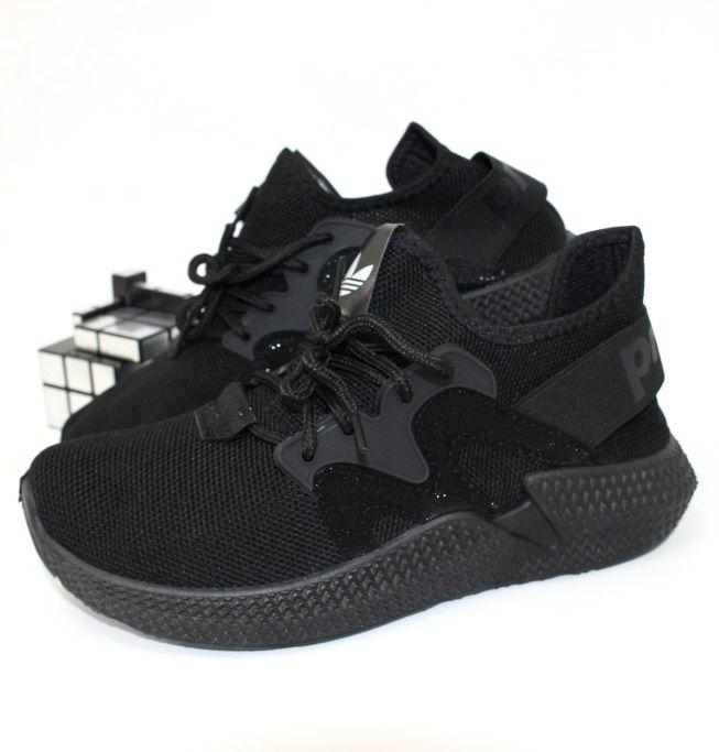Текстильные кроссовки 64-18-black  - купить в интернет магазине в Запорожье, Днепре, Харькове