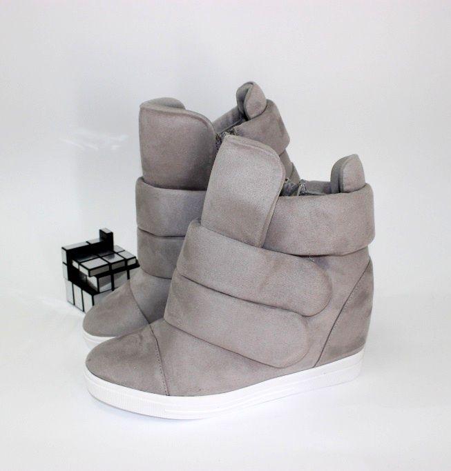 Модные ботинки на скрытой танкетке 6506-16 - кроссовки на платформе, купить кроссовки на танкетке