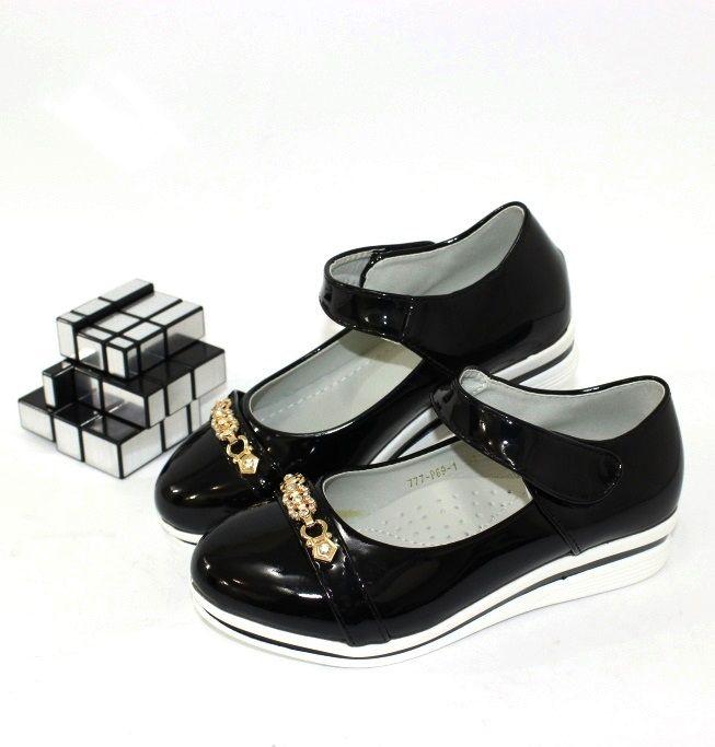 Туфли школьные купить Украина, туфли для девочки с ремешком, купить детскую школьную обувь