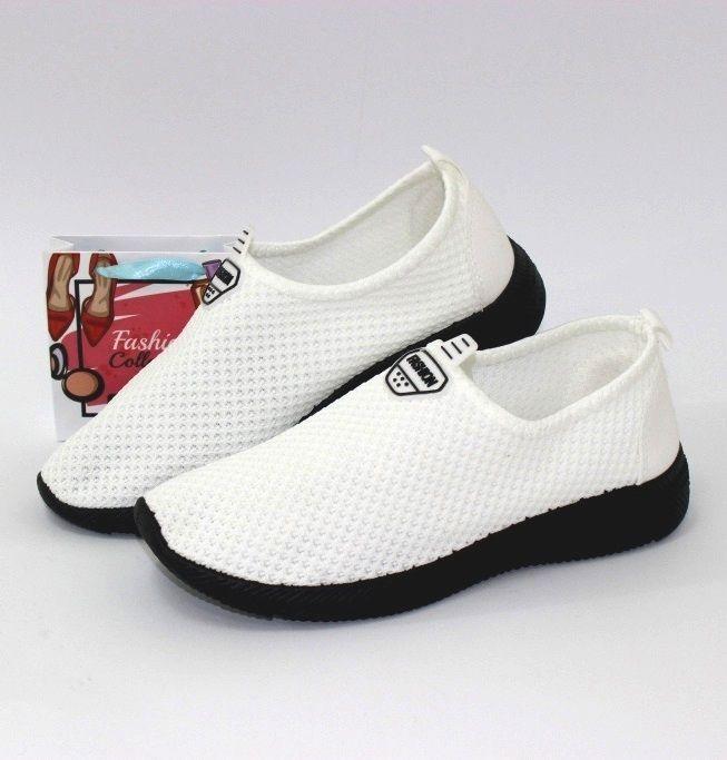 Стрейчевые слипоны белые 816-2 белый - купить кеды в стиле Vans в интернет магазине обуви