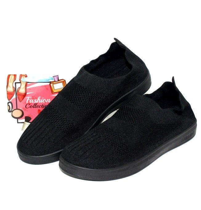 Стрейчевые слипоны 817-91 чёрн - купить кеды в стиле Vans в интернет магазине обуви