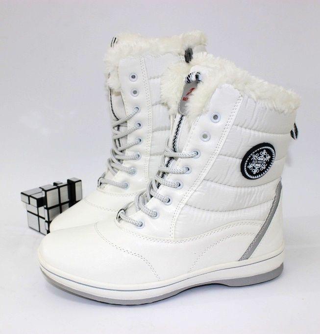 Комфортные ботинки молочного цвета 8312-5 - купить зимнюю обувь