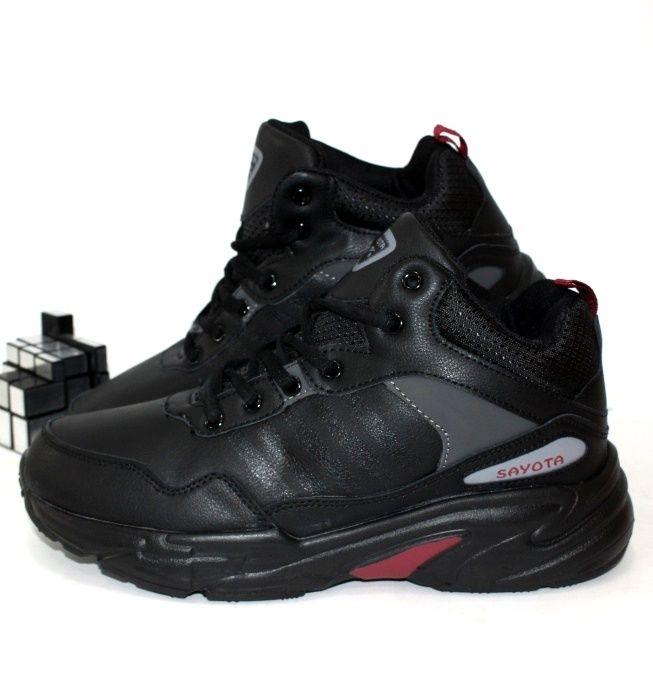 Зимние мужские ботинки кроссовки нат толстой подошве