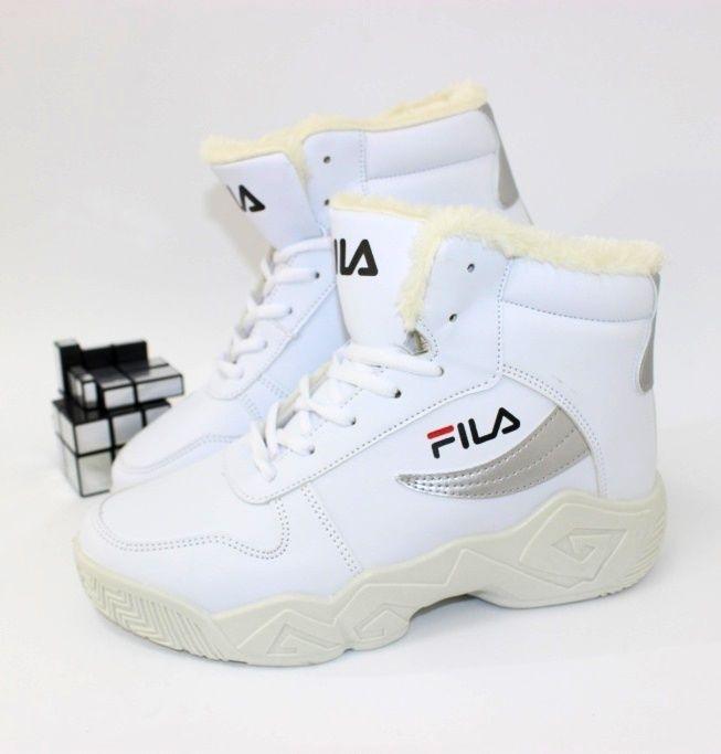 Белые зимние кроссовки 8901-3 - купить зимние кроссовки