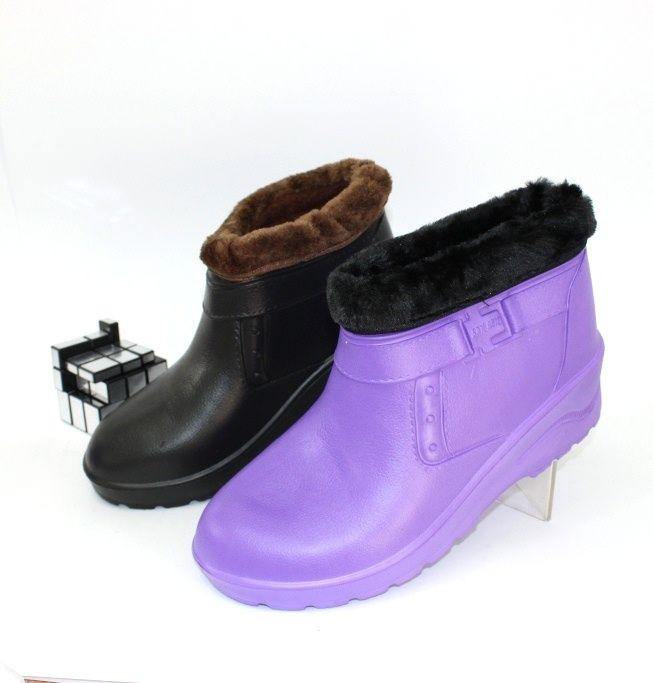 Галоши утеплённые из ЭВА 9+2 пена ассорти - купить зимнюю обувь