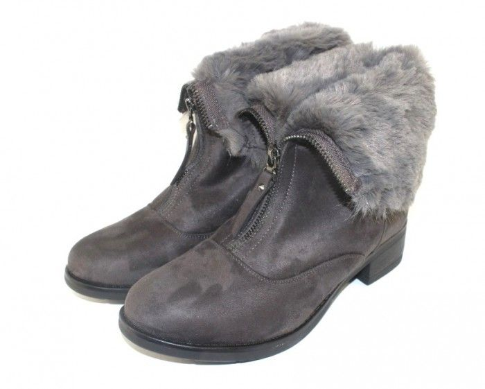 модные женские ботиночки на танкетке с опушкой недорого интернет магазин сандаль