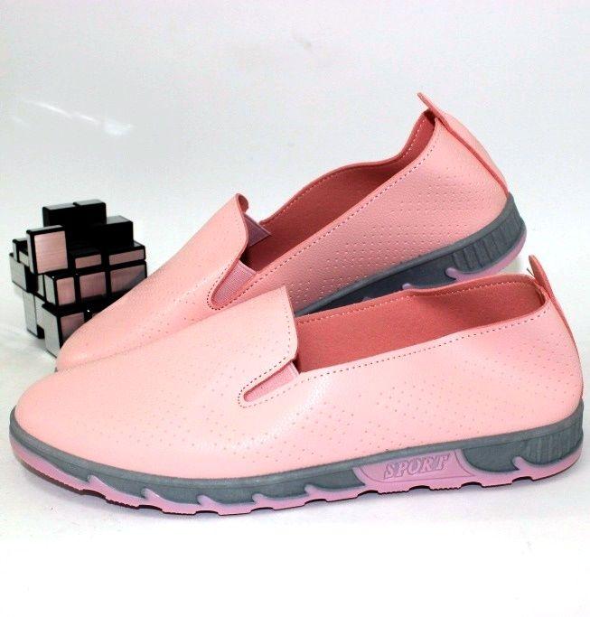 Туфли женские летние повседневные недорого Украина, розовые женские туфли мокасины