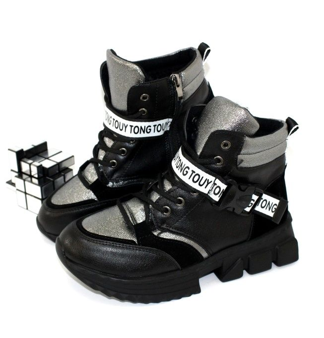 Оригинальные ботинки на толстой подошве 966-A2 - купить зимнюю обувь
