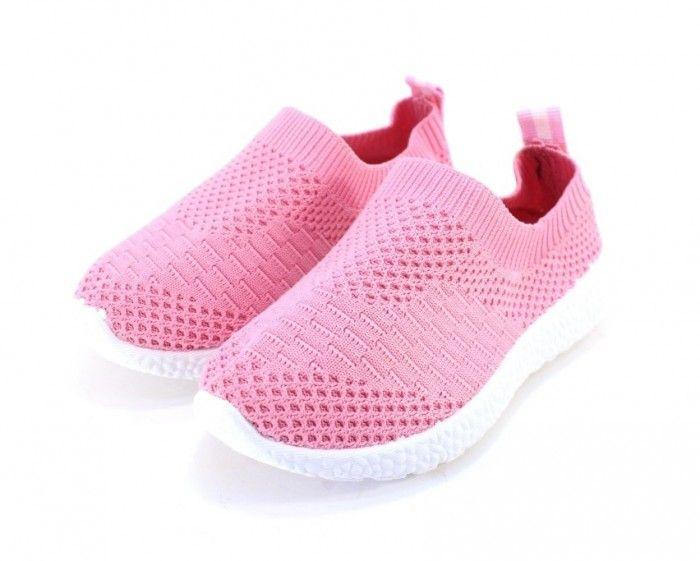 Лёгкие текстильные слипоны для девочек B-7 - купить детские кроссовки для садика