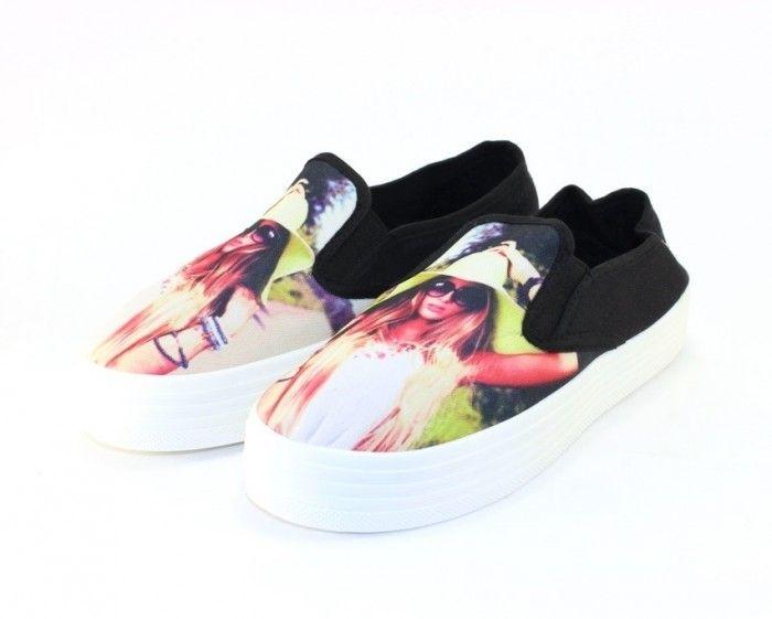 Сліпони молодіжні купити, кеди на платформі Запоріжжя, модні кеди - сліпони, взуття в сандалях