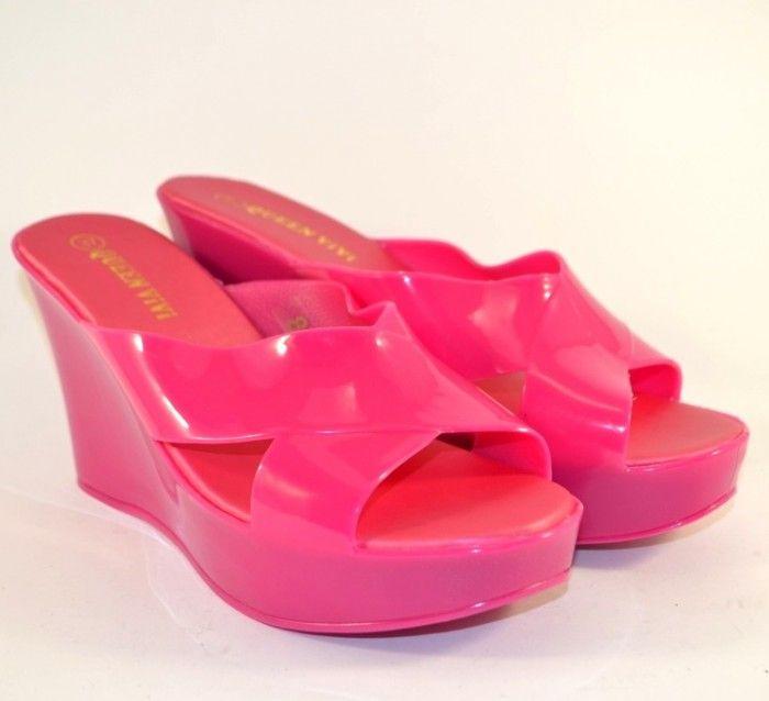 Купить женские шлёпанцы 898 FUXIA в Сандале, женская летняя обувь Запорожье, купить силиконовые шлёпки