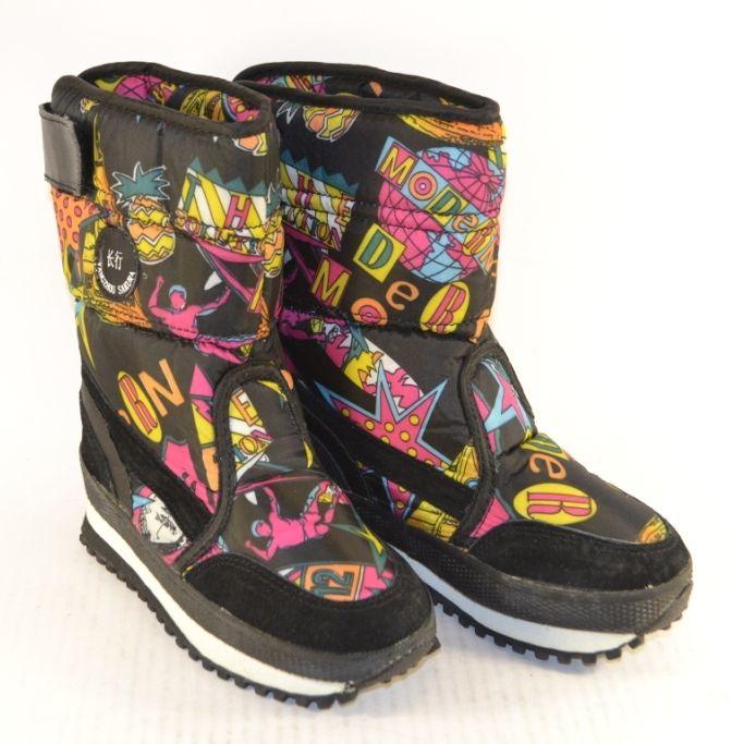 Купить дутики Запорожье, детские дутики Украина, цветные дутики для детей, зимняя детская обувь