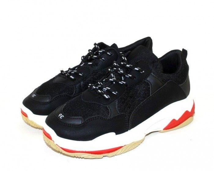 5590a4a3 Модные кроссовки D1901-1 BLACK - купить в интернет магазине в Запорожье,  Днепре, Харькове