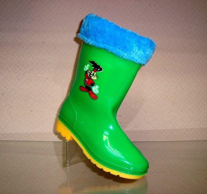 Дитячі гумові чоботи з хутром по супер ціні.