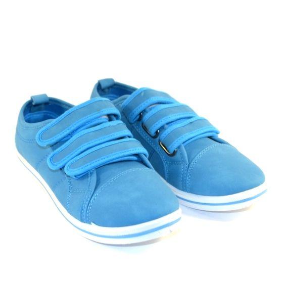 Детские кеды на липучках L44C-2 голубой - в интернет магазине детских кроссовок для мальчиков