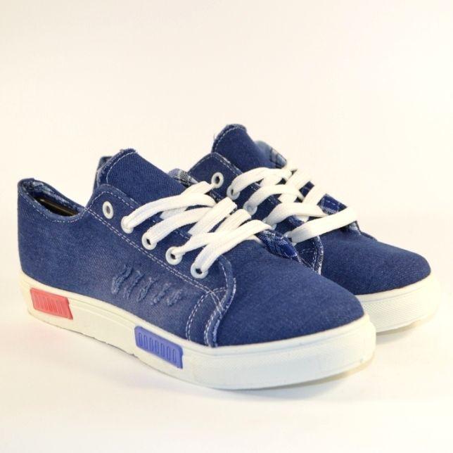 Купить синие джинсовые кеды в Запорожье, обувь женская джинсовая недорого